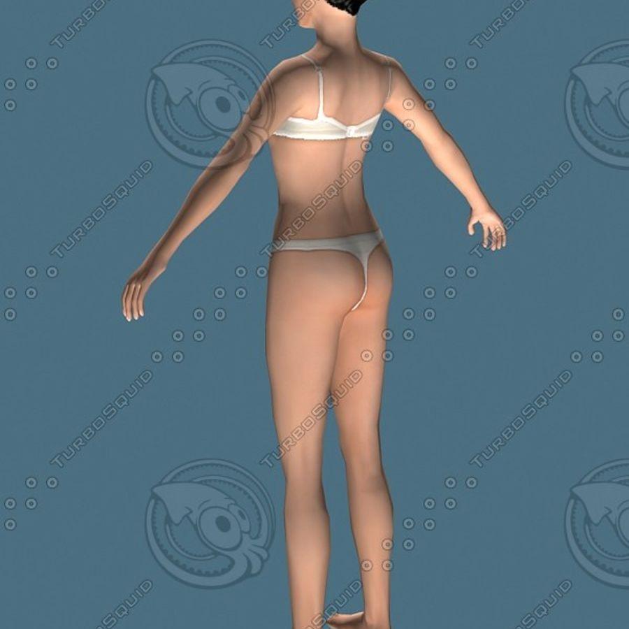 Menina nua (alta poli) royalty-free 3d model - Preview no. 3