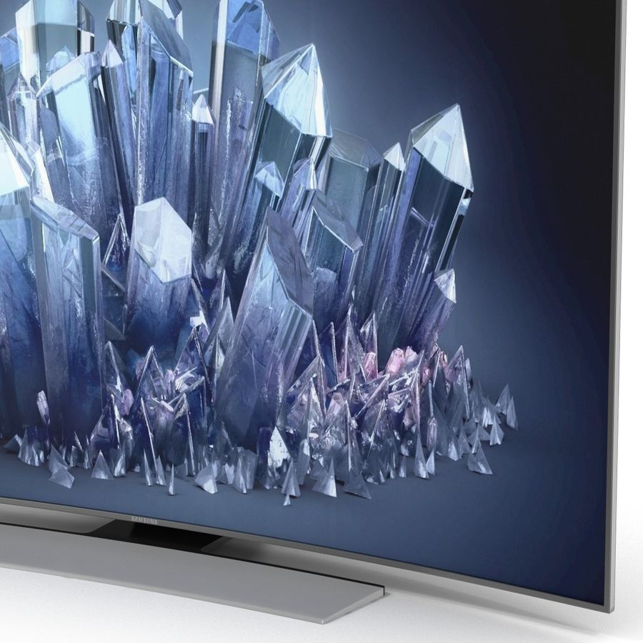 Samsung 4K UHD HU9000 Series Curved Smart TV 78 inch royalty-free 3d model - Preview no. 13