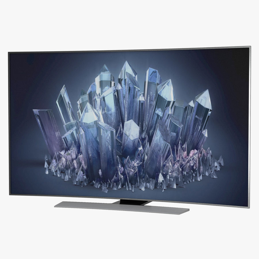 Samsung 4K UHD HU9000 Series Curved Smart TV 78 inch royalty-free 3d model - Preview no. 1