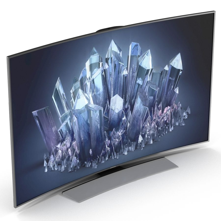 Samsung 4K UHD HU9000 Series Curved Smart TV 78 inch royalty-free 3d model - Preview no. 7