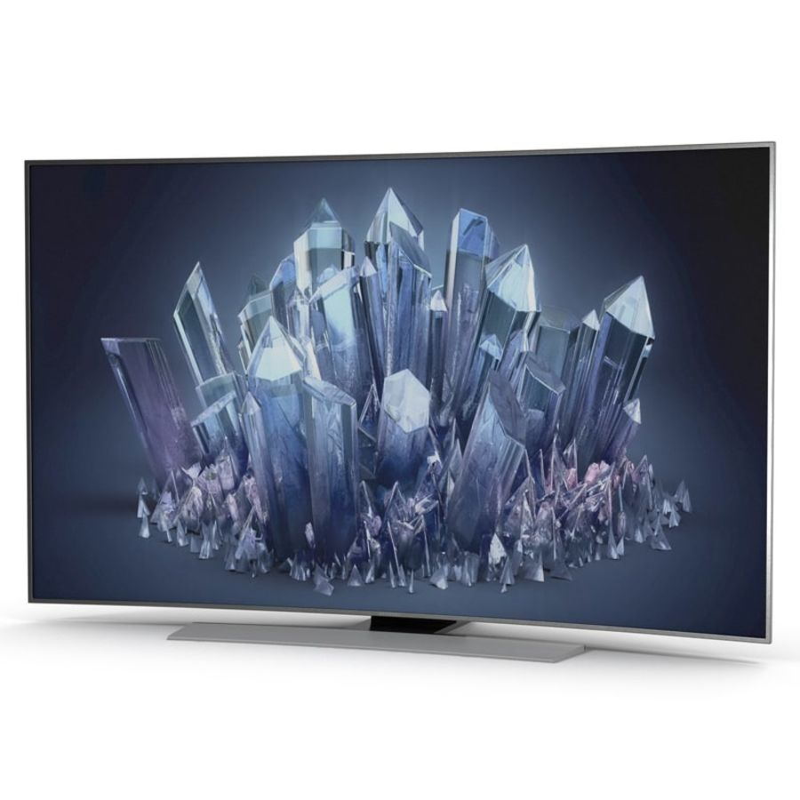 Samsung 4K UHD HU9000 Series Curved Smart TV 78 inch royalty-free 3d model - Preview no. 2