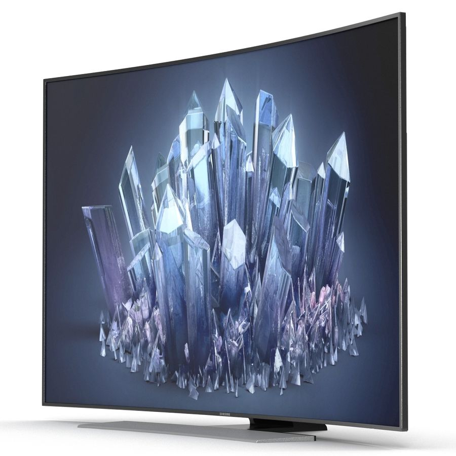 Samsung 4K UHD HU9000 Series Curved Smart TV 78 inch royalty-free 3d model - Preview no. 6