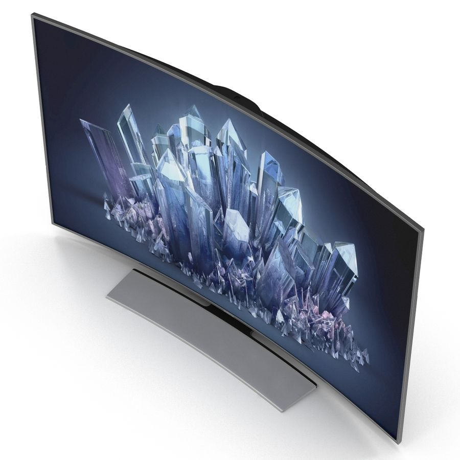 Samsung 4K UHD HU9000 Series Curved Smart TV 78 inch royalty-free 3d model - Preview no. 10
