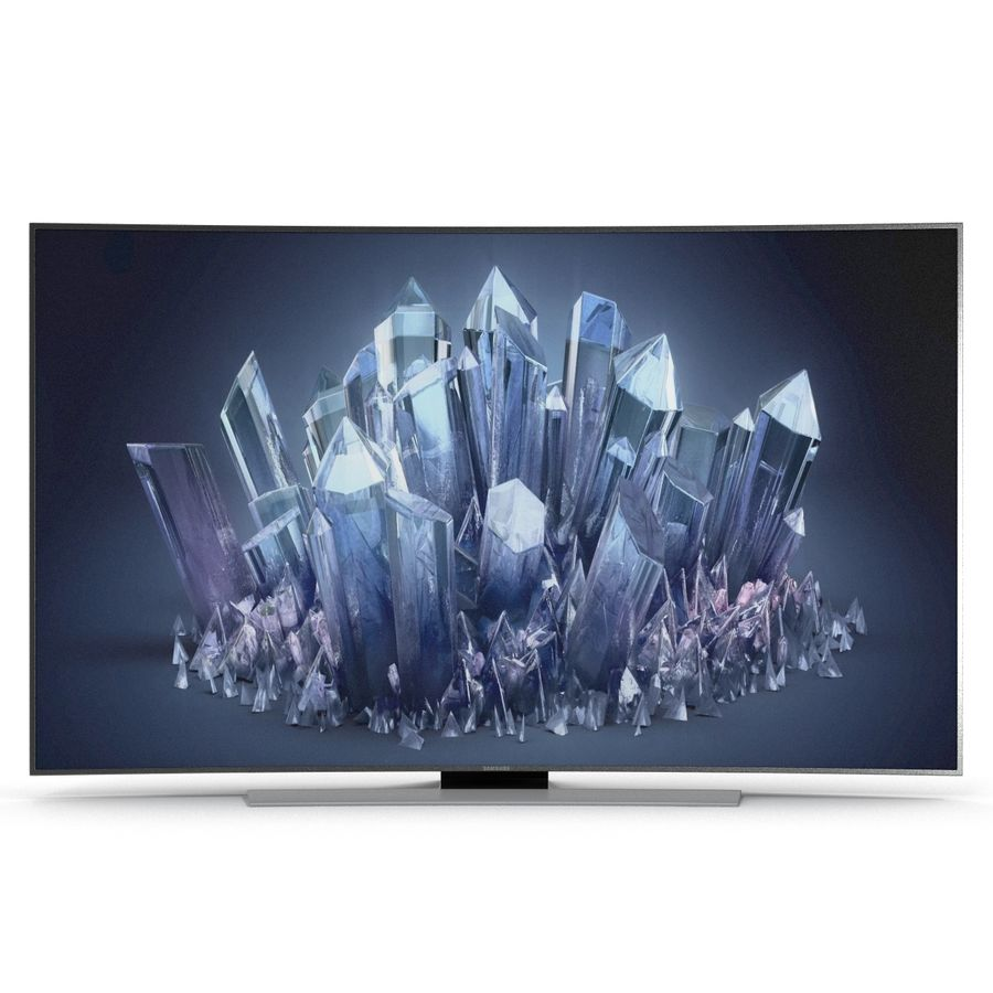 Samsung 4K UHD HU9000 Series Curved Smart TV 78 inch royalty-free 3d model - Preview no. 3