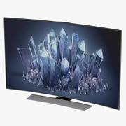 Samsung 4K UHD HU9000 Series Curved Smart TV 55 inch 3d model