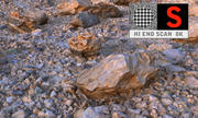 Área vulcânica do deserto de varredura HD 8K 3d model