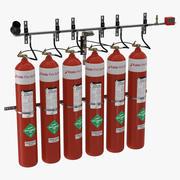 Sistema antincendio 3d model
