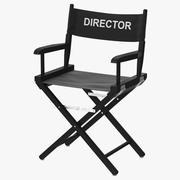 감독 의자 블랙 3d model