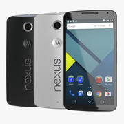 Google Nexus 6 3D Models Set 3d model
