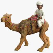 Niño en estatua de camello modelo 3d