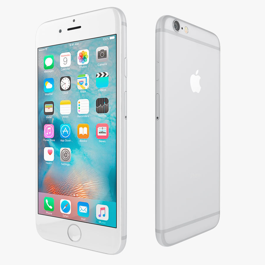 Apple iPhone 6s i iPhone 6s plus 2015 royalty-free 3d model - Preview no. 10