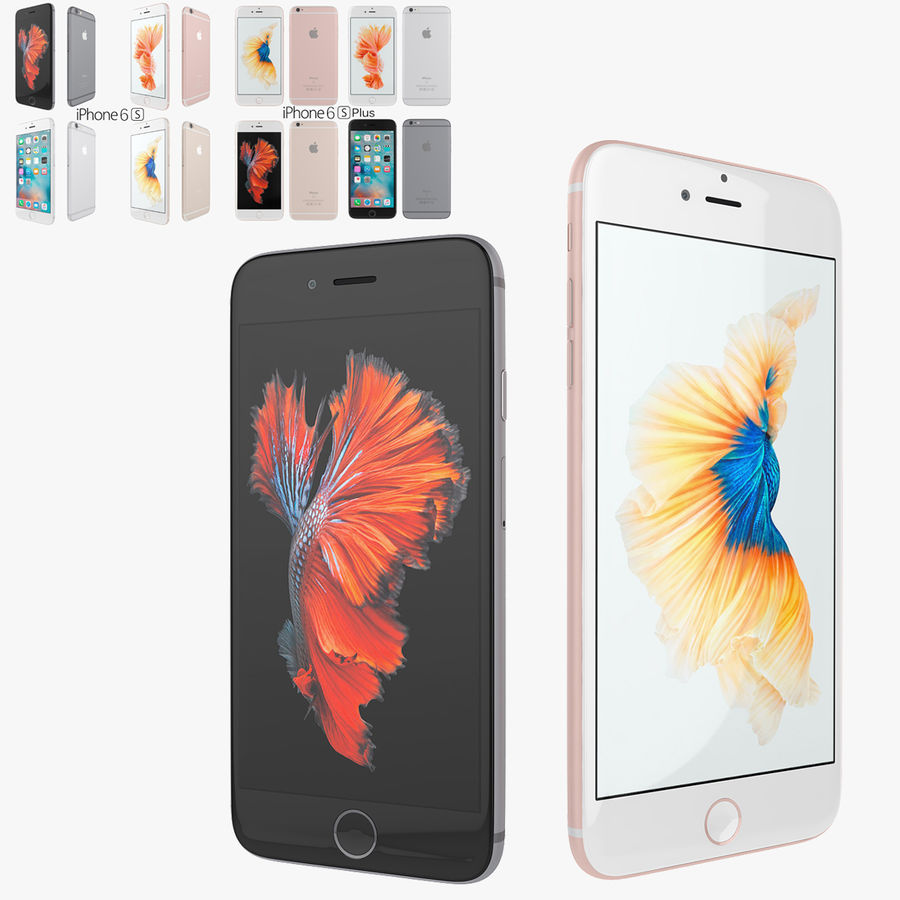 Apple iPhone 6s i iPhone 6s plus 2015 royalty-free 3d model - Preview no. 1
