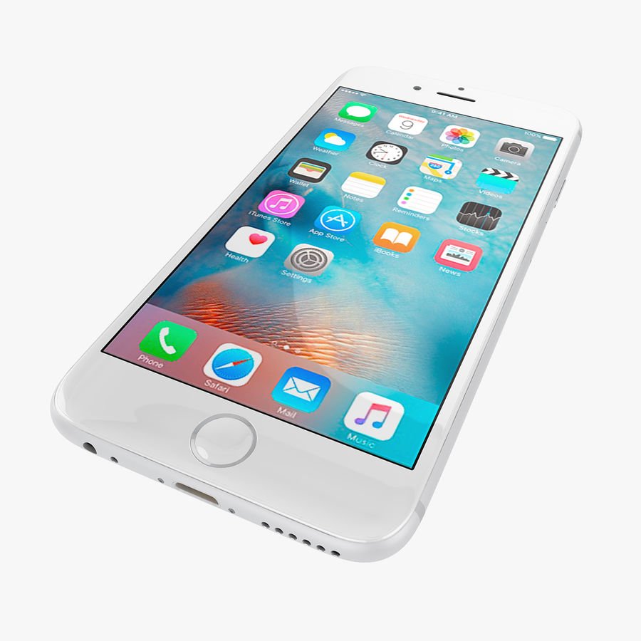 Apple iPhone 6s 및 iPhone 6s plus 2015 royalty-free 3d model - Preview no. 42