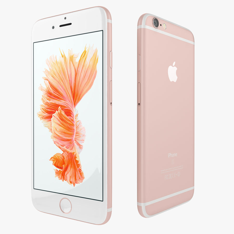 Apple iPhone 6s i iPhone 6s plus 2015 royalty-free 3d model - Preview no. 6