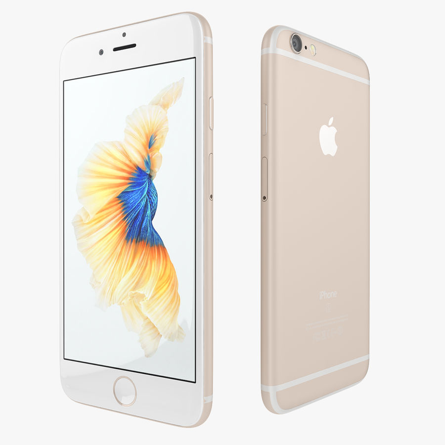 Apple iPhone 6s i iPhone 6s plus 2015 royalty-free 3d model - Preview no. 8