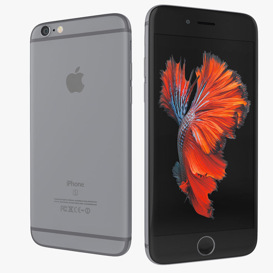 Apple iPhone 6s 및 iPhone 6s plus 2015 royalty-free 3d model - Preview no. 5