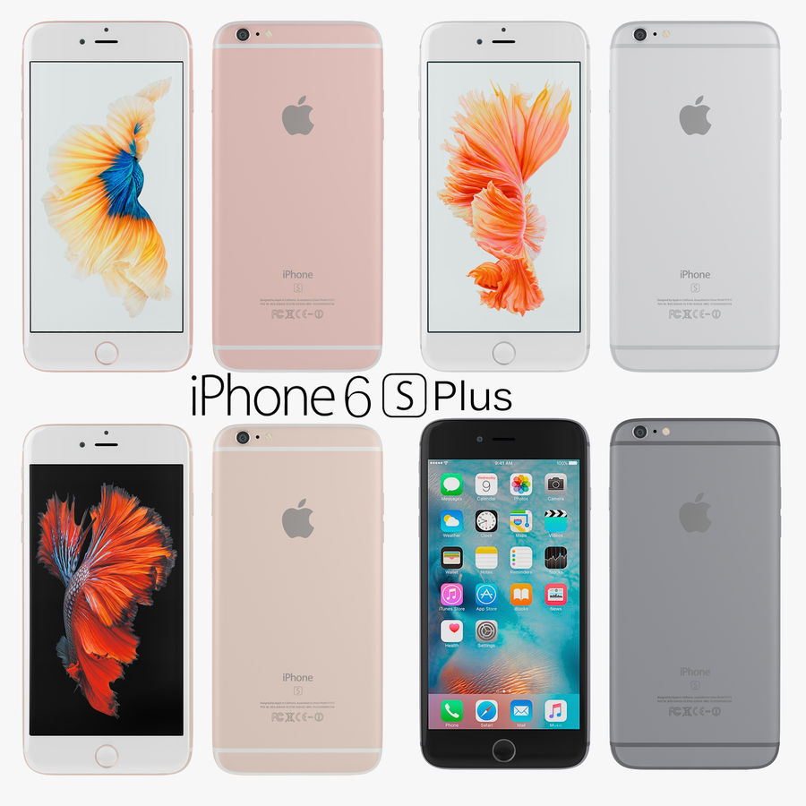 Apple iPhone 6s i iPhone 6s plus 2015 royalty-free 3d model - Preview no. 3