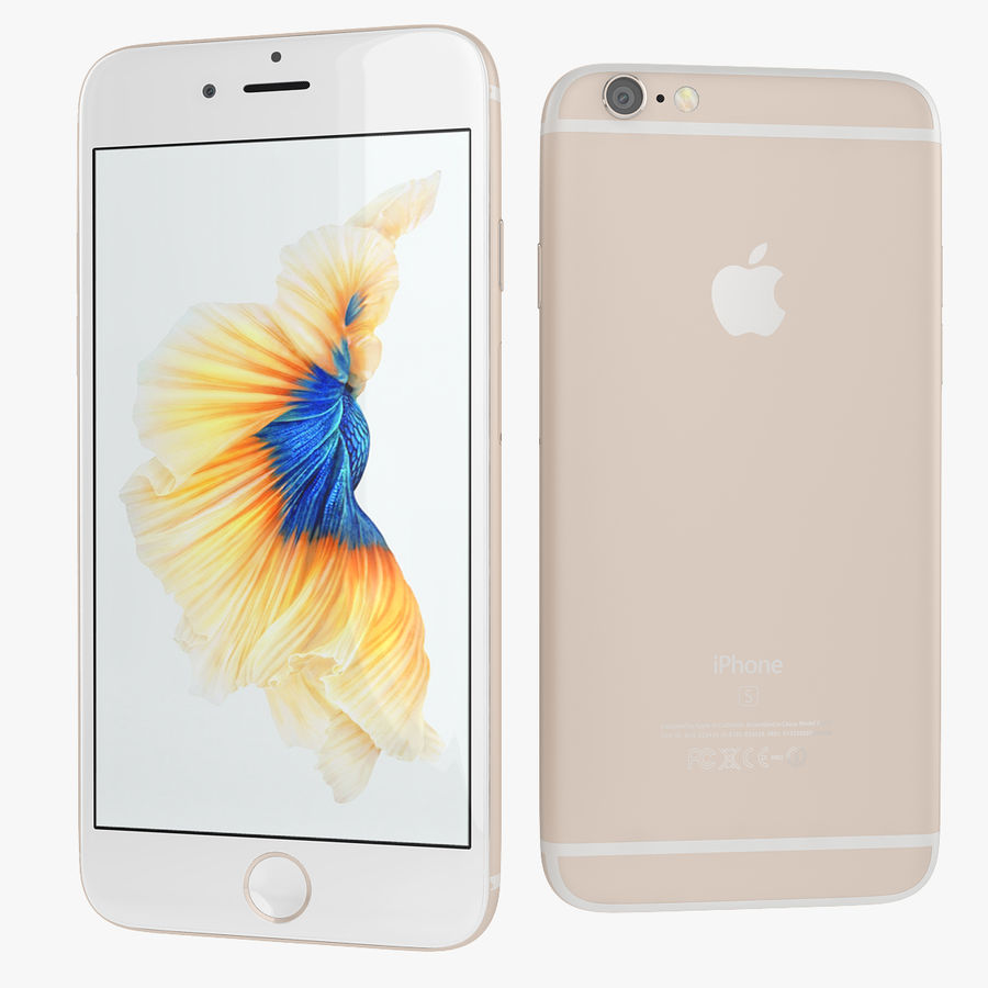 Apple iPhone 6s i iPhone 6s plus 2015 royalty-free 3d model - Preview no. 9