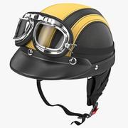 고글 보호 헬멧 3d model