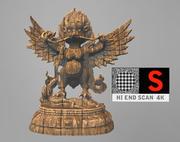 Tecknad Garuda-staty 3d model