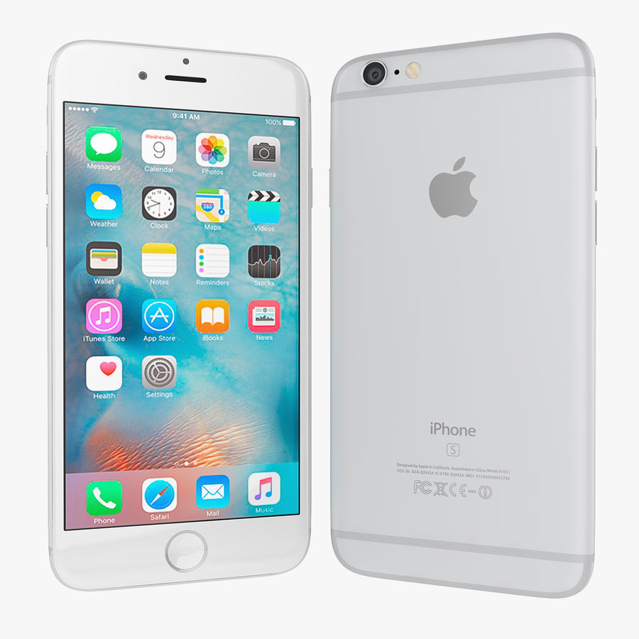 Apple iPhone 6s e iPhone 6s plus 2015 royalty-free 3d model - Preview no. 16