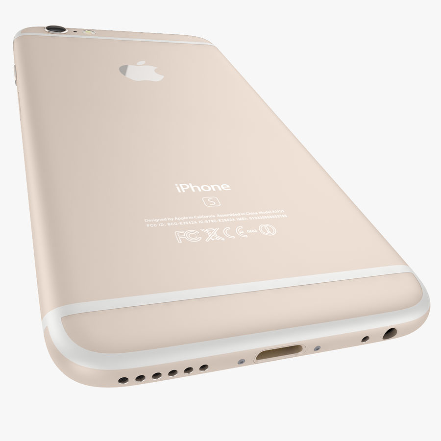Apple iPhone 6s e iPhone 6s plus 2015 royalty-free 3d model - Preview no. 43