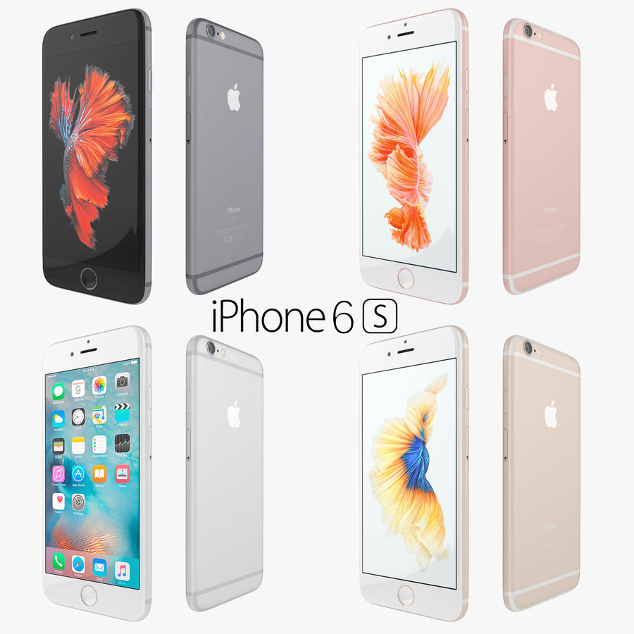 Apple iPhone 6s 및 iPhone 6s plus 2015 royalty-free 3d model - Preview no. 7