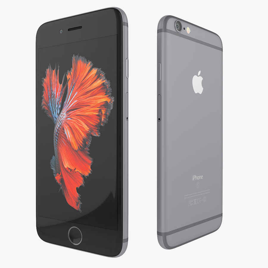Apple iPhone 6s 및 iPhone 6s plus 2015 royalty-free 3d model - Preview no. 9