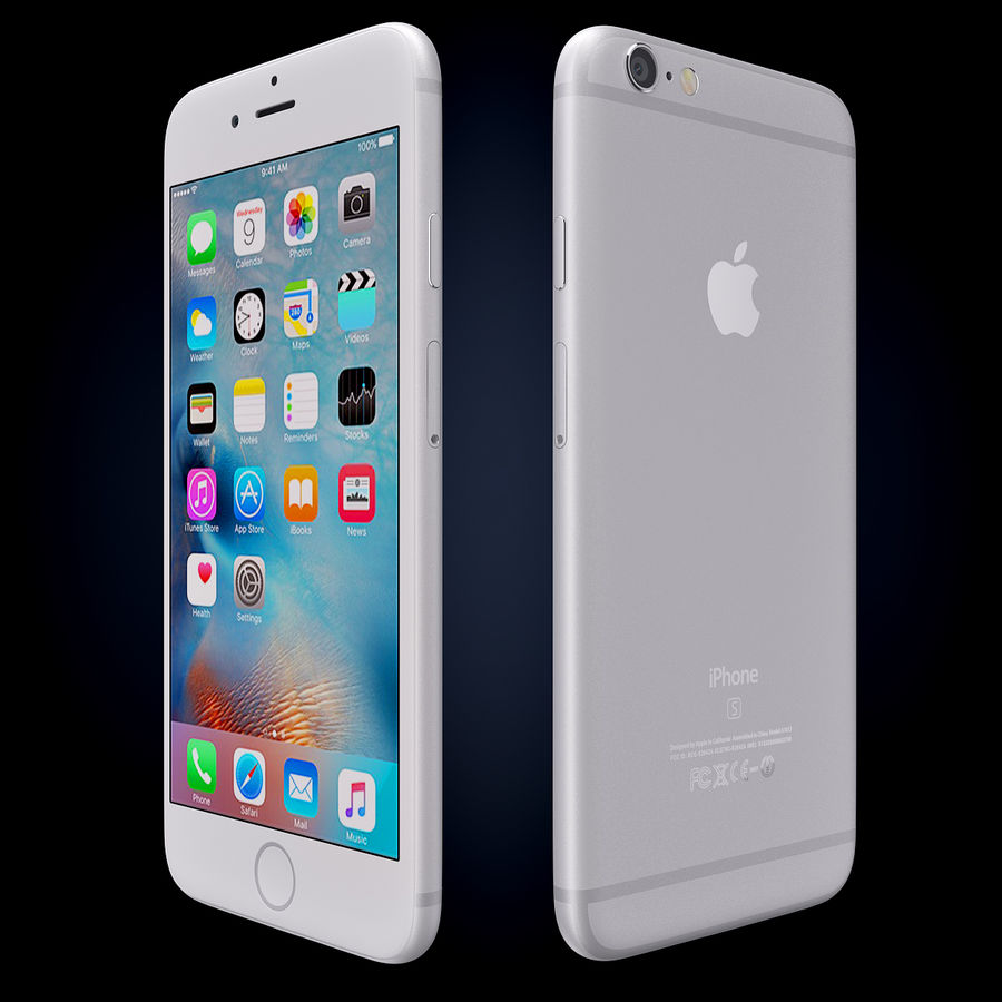 Apple iPhone 6s 및 iPhone 6s plus 2015 royalty-free 3d model - Preview no. 6