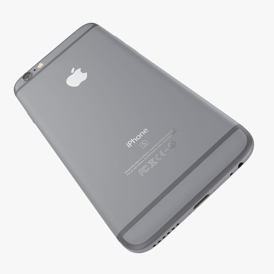 Apple iPhone 6s e iPhone 6s plus 2015 royalty-free 3d model - Preview no. 29