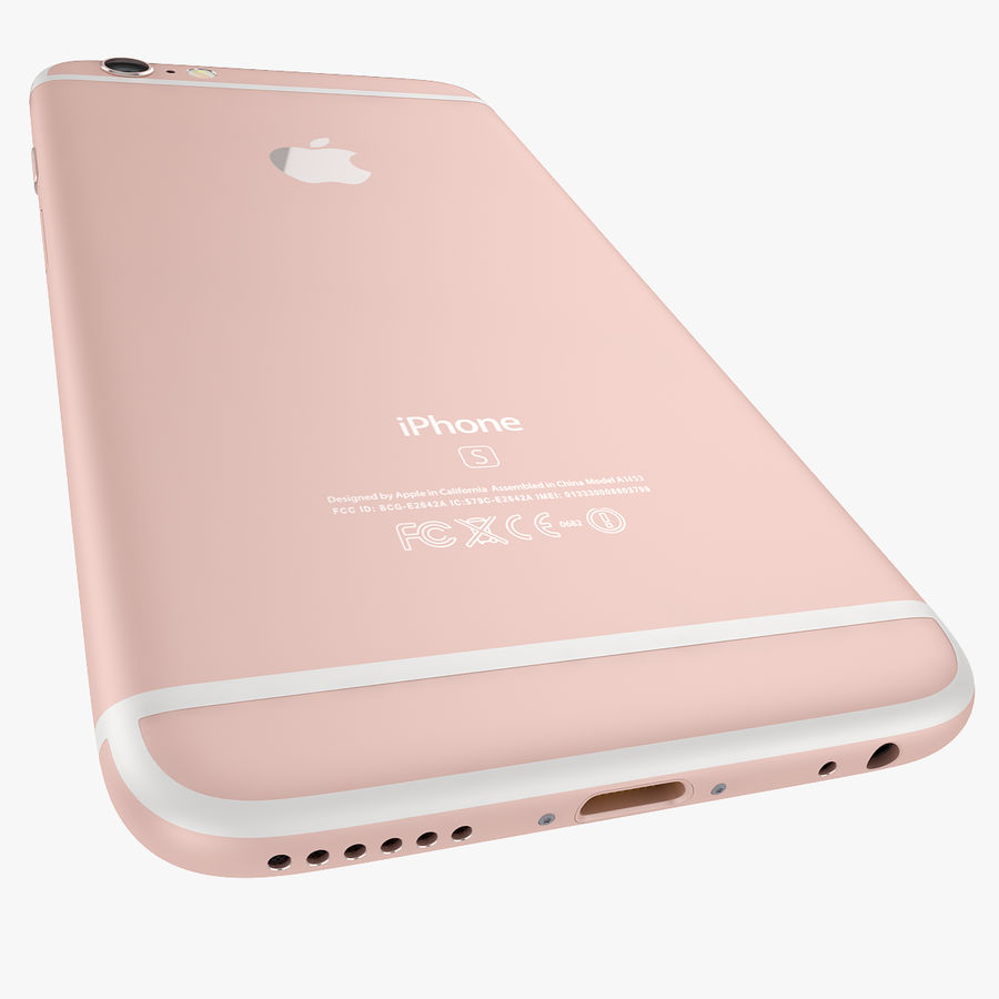 Apple iPhone 6s e iPhone 6s plus 2015 royalty-free 3d model - Preview no. 33