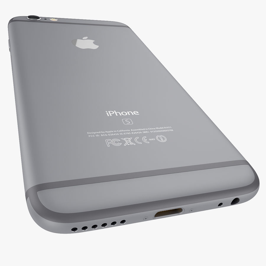 Apple iPhone 6s 및 iPhone 6s plus 2015 royalty-free 3d model - Preview no. 25