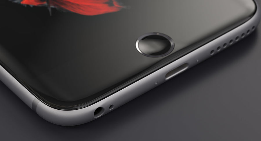 Apple iPhone 6s e iPhone 6s plus 2015 royalty-free 3d model - Preview no. 2