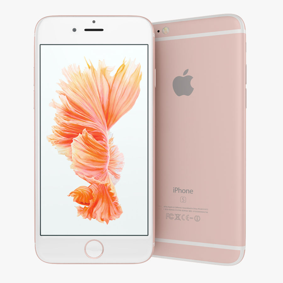 Apple iPhone 6s 및 iPhone 6s plus 2015 royalty-free 3d model - Preview no. 12