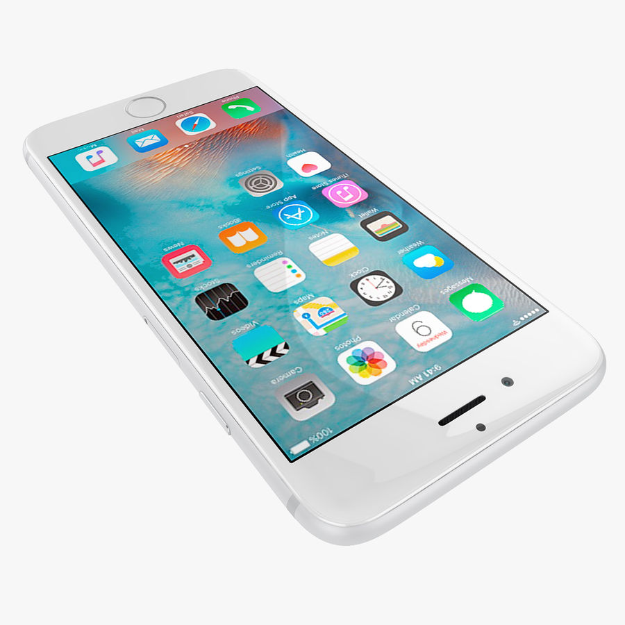 Apple iPhone 6s e iPhone 6s plus 2015 royalty-free 3d model - Preview no. 49