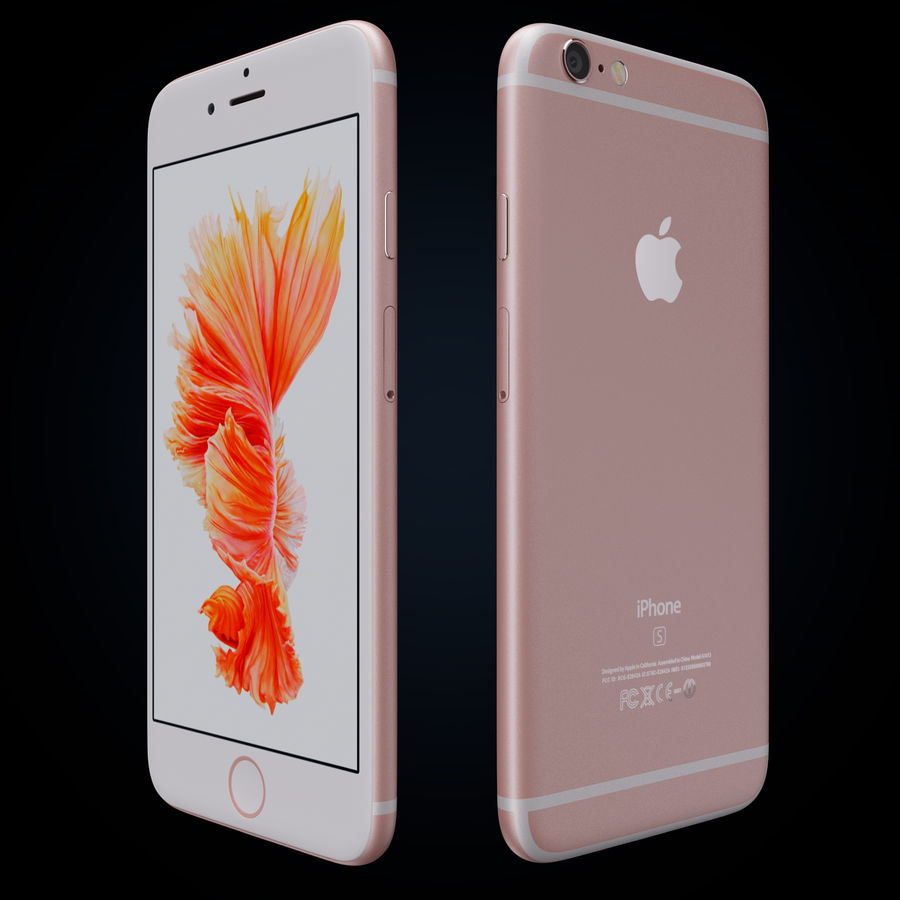 Apple iPhone 6s 및 iPhone 6s plus 2015 royalty-free 3d model - Preview no. 4