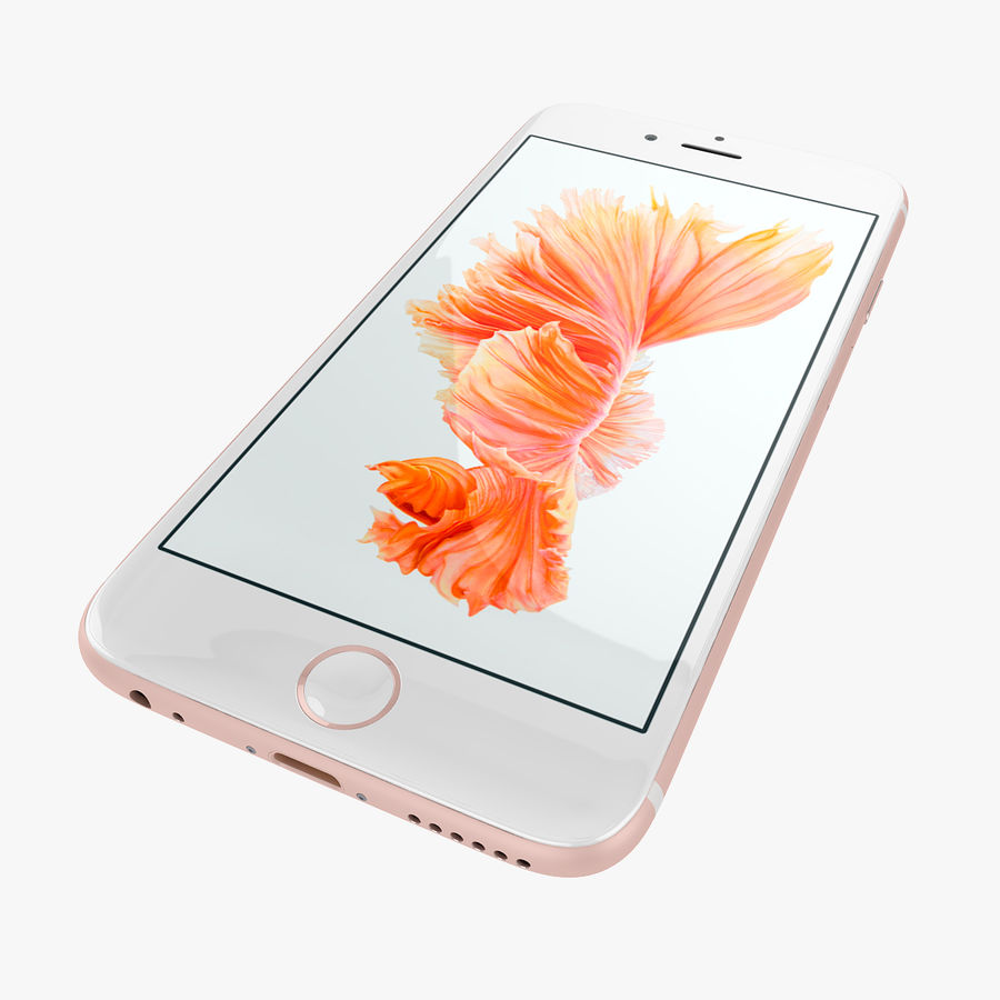 Apple iPhone 6s e iPhone 6s plus 2015 royalty-free 3d model - Preview no. 23