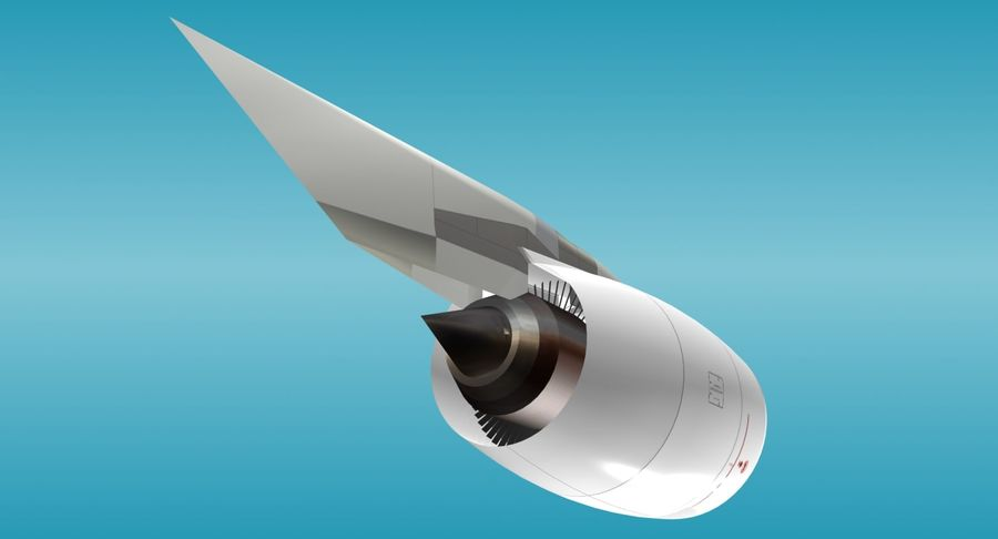 Generic Aircraft Engine royalty-free 3d model - Preview no. 4
