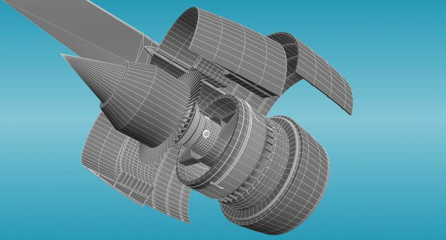 Generic Aircraft Engine royalty-free 3d model - Preview no. 10