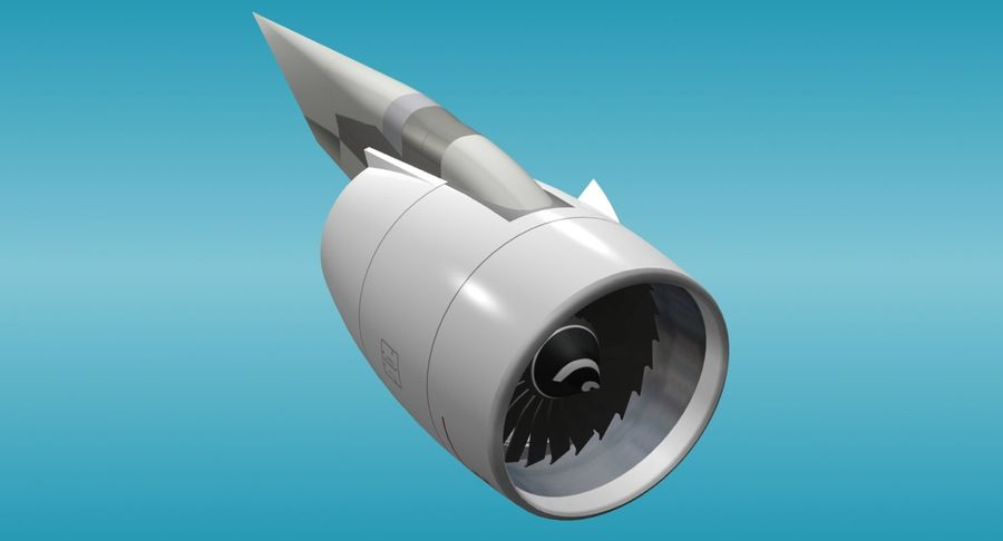 Generic Aircraft Engine royalty-free 3d model - Preview no. 3