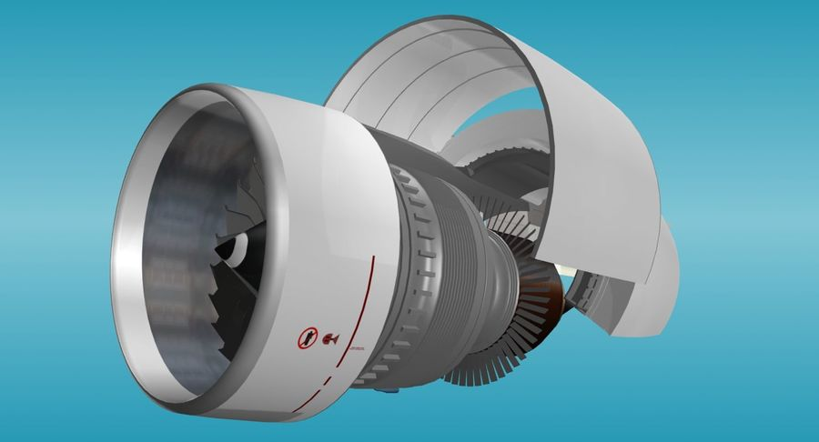 Generic Aircraft Engine royalty-free 3d model - Preview no. 7