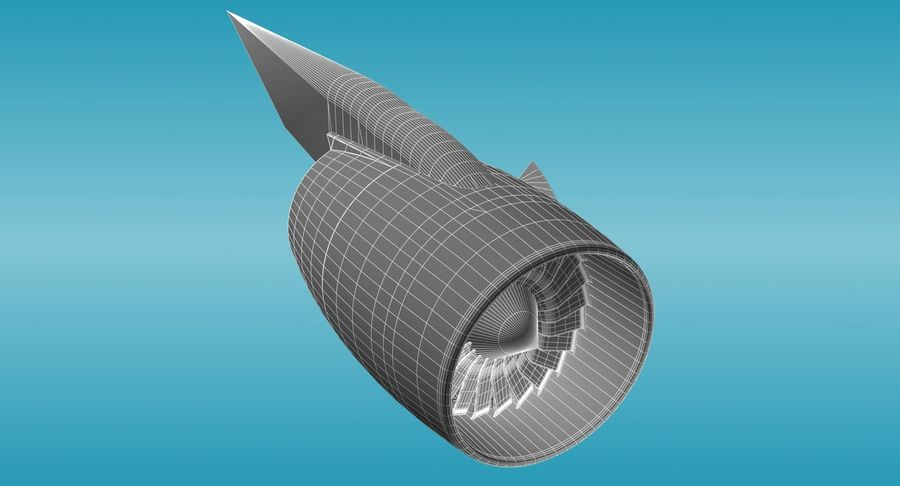 Generic Aircraft Engine royalty-free 3d model - Preview no. 9