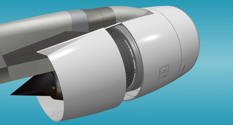Generic Aircraft Engine royalty-free 3d model - Preview no. 8