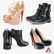 Shoes Set Louboutin 3d model