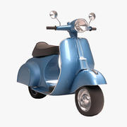 古董踏板车 3d model