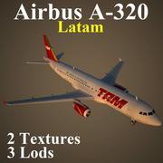 A320 TAM modelo 3d