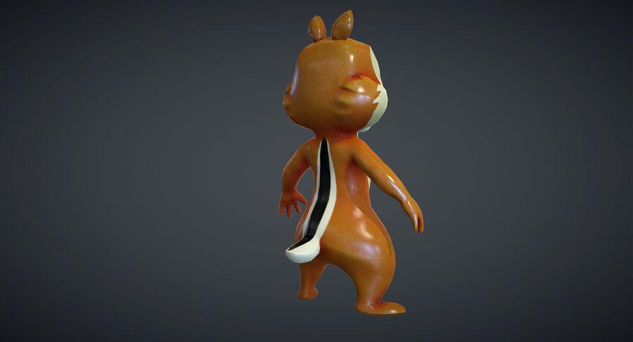 Ardilla de dibujos animados royalty-free modelo 3d - Preview no. 10