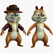 Esquilo dos desenhos animados 3d model