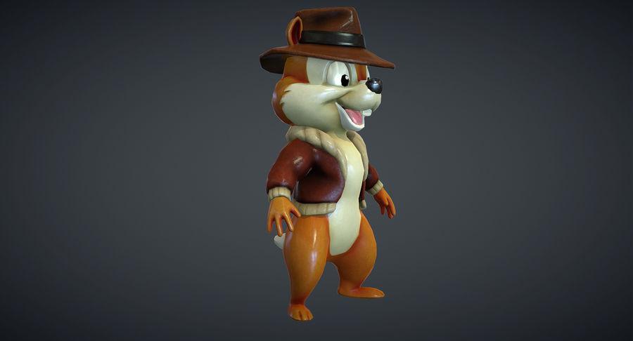 Ardilla de dibujos animados royalty-free modelo 3d - Preview no. 4