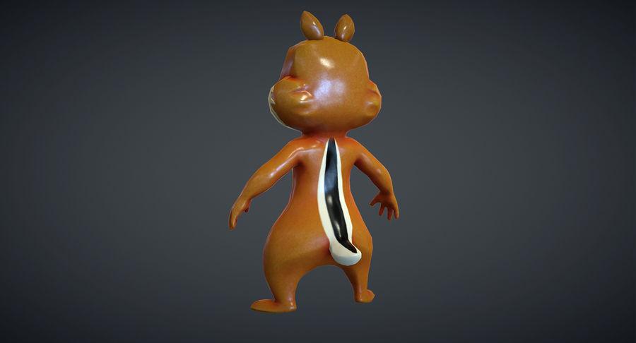 Ardilla de dibujos animados royalty-free modelo 3d - Preview no. 11